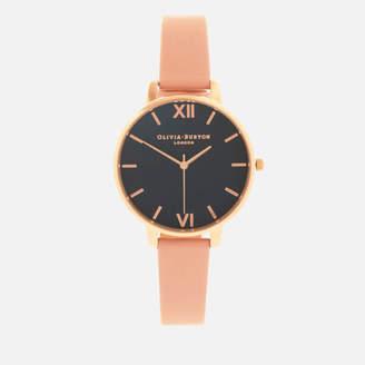Olivia Burton Women's Big Dial Watch - Midnight, Dusty Pink/Rose Gold