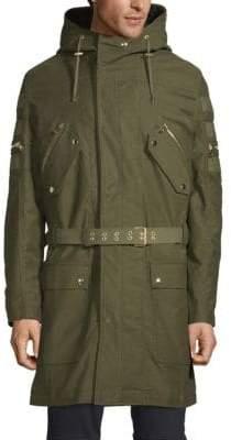 Balmain Patchwork Hooded Coat