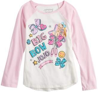 Nickelodeon Girls 4-10 Jumping Beans Big Bow Jojo Glittery Graphic Tee