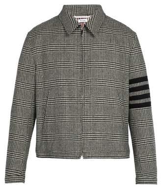 Thom Browne Houndstooth Wool Jacket - Mens - Black White