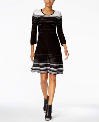 Nine West Striped A-Line Sweater Dress $79 thestylecure.com
