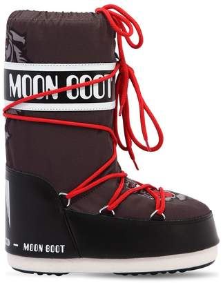 Moon Boot Tiger Print Nylon Snow Boots