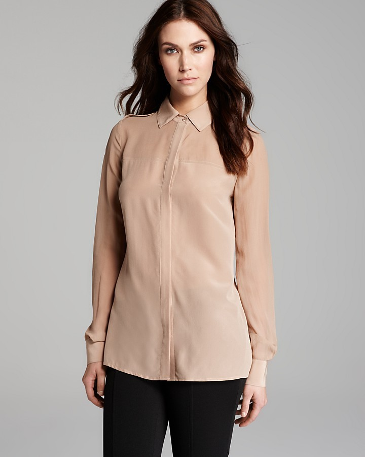 Rachel Zoe Blouse - Capri Sheer Yoke