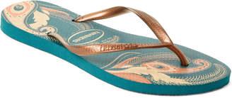Havaianas Petroleum Slim Organic Flip Flops