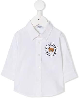 Moschino Kids teddy logo print shirt