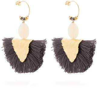 ELISE TSIKIS Havane tassel-drop gold-plated earrings