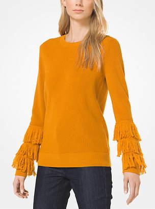 Michael Kors Wool-Blend Fringed Pullover