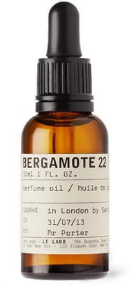 Le Labo Bergamote 22 Perfume Oil, 30ml