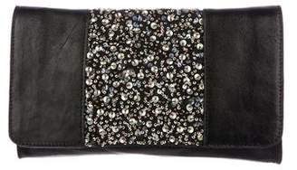 AllSaints Sequined Leather Clutch