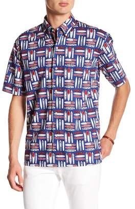 Reyn Spooner Longboard Print Classic Fit Shirt