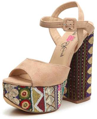 Penny Loves Kenny Skip Embellished Platform