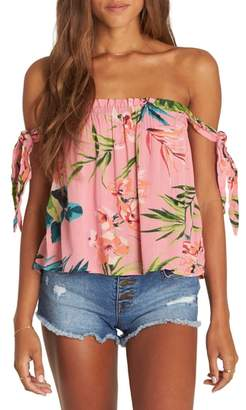 Billabong No Worries Off the Shoulder Top