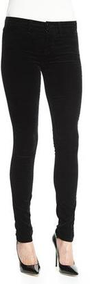 J Brand 815 Mid-Rise Super-Skinny Velvet Jeans, Black $228 thestylecure.com