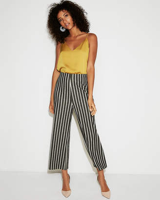 Express Mid Rise Striped Culottes