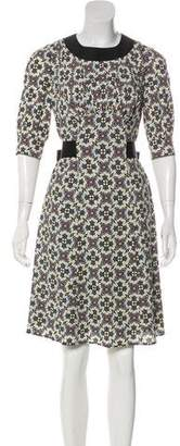 Prada Crepe A-Line Dress