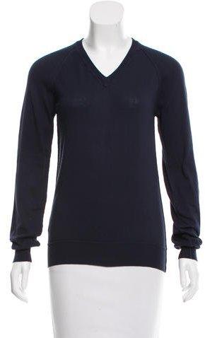 Miu MiuMiu Miu V-Neck Long Sleeve Sweater