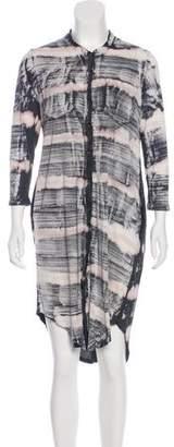Raquel Allegra Button-Up Tie-Dye Dress