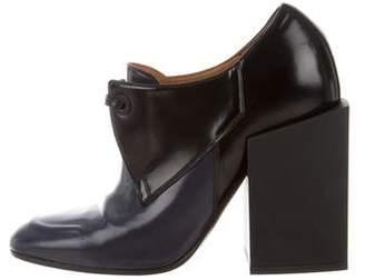 Balenciaga Leather Round-Toe Booties