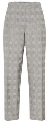 Salvatore Ferragamo Checked virgin wool pants