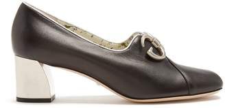Gucci Biba leather pumps