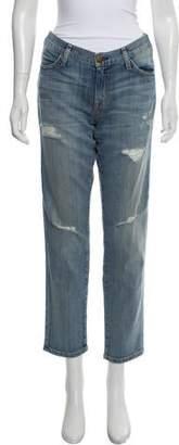 Current/Elliott Mid-Rise Straight-Leg Maternity Jeans