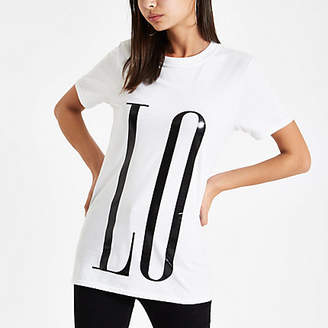 River Island White 'Love' front and back print T-shirt