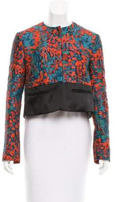 Brandon Sun Abstract Patterned Cropped Jacket