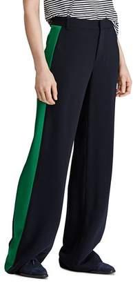 Ralph Lauren Satin Tuxedo-Stripe Twill Pants