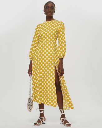 Topshop Polka Spot Midi Dress