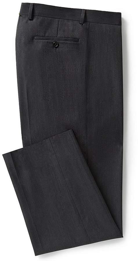 Ralph Ralph Lauren Relaxed Fit Flat-Front Herringbone Dress Pants