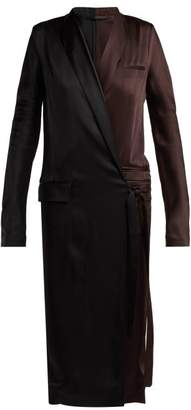 Haider Ackermann Kuiper Wrap Dress - Womens - Brown