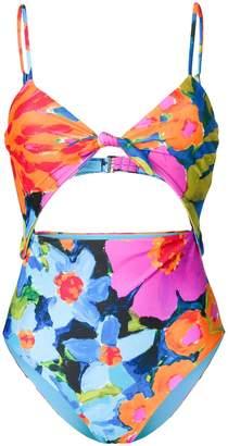 Mara Hoffman floral print cut-out swimsuit