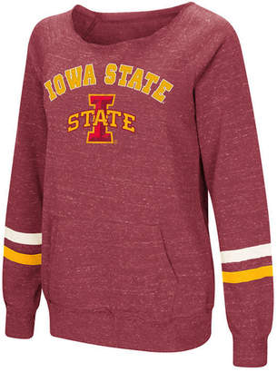 Colosseum Women's Iowa State Cyclones Off the Shoulder Fleece Sweatshirt