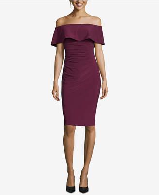 Xscape Evenings Off-The-Shoulder Sheath Petite Dress