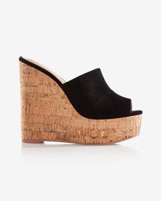 Express Slide Wedge Sandals $59.90 thestylecure.com