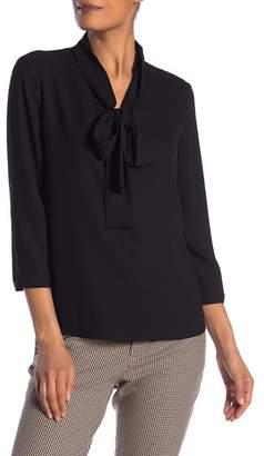 Anne Klein V-Neck Front Tie Blouse