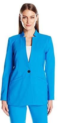 Chaus Women's Long Sleeve One Button Blazer