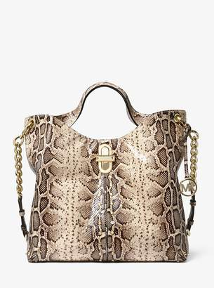 MICHAEL Michael Kors Uptown Astor Legacy Large Snake-Embossed Leather Tote Bag
