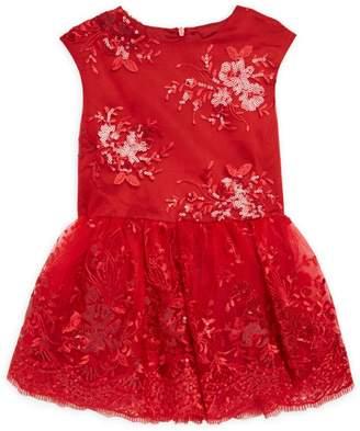 Halabaloo Little Girl's & Girl's Sequin Fit-&-Flare Dress