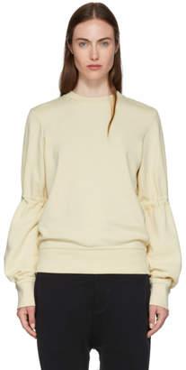 Ann Demeulemeester Off-White Sleeve Tie Sweatshirt