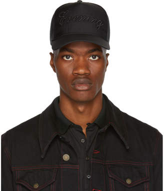 DSQUARED2 Black Mesh Evening Cap