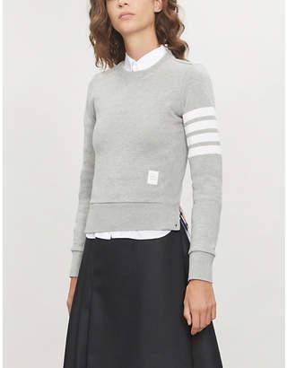Thom Browne 4-bar Stripe cotton-jersey sweatshirt