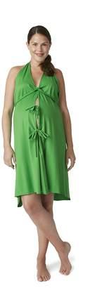 Pretty Pushers Cotton Jersey Labor Gown I Dream Of (2-16 pre-pregnancy) Brown/Cream