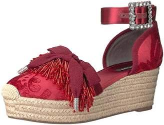 Marc Jacobs Women's Maggie Pompom Platform Espadrille Wedge Sandal