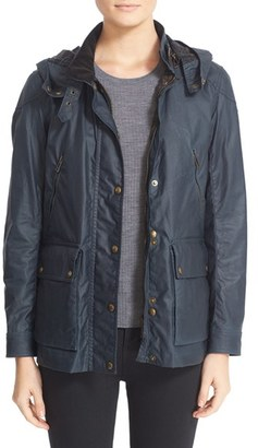 Women's Belstaff Tourmaster 2.0 Hooded Waxed Cotton Jacket $695 thestylecure.com