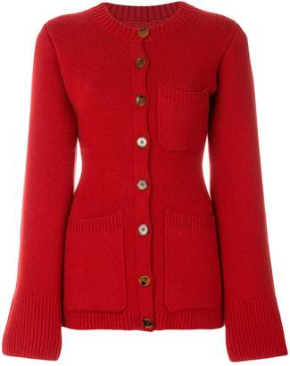 Khaite pocket front fitted cardigan