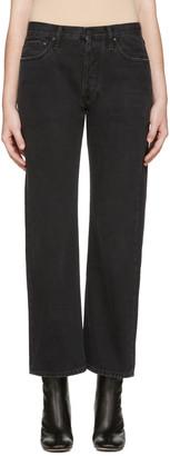 Off-White Black Scratch Boyfriend Diagonal Jeans $555 thestylecure.com