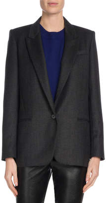 Igora Single-Button Wool Blazer