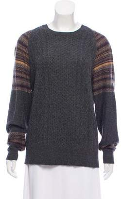 AllSaints Wool-Blend Rib Knit Sweater