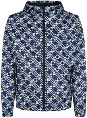 Fendi Monogram Logo Check Windbreaker Jacket